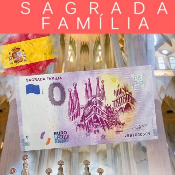 "Billet EURO SOUVENIR ESPANA- BANKNOTE ""SAGRADA FAMILIA"""