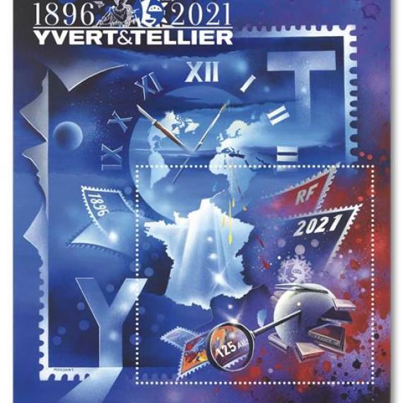 CONCOURS peinture - Catalogue YVERT & TELLIER / 125e anniversaire