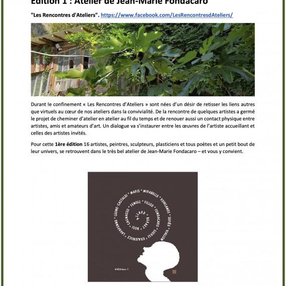 Les Rencontres d'Ateliers - 2021 - Nice