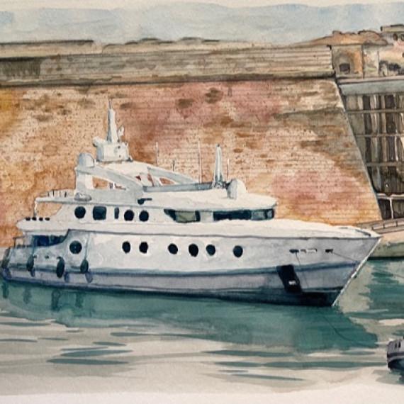 Carnet de croquis Yacht Club  Monaco